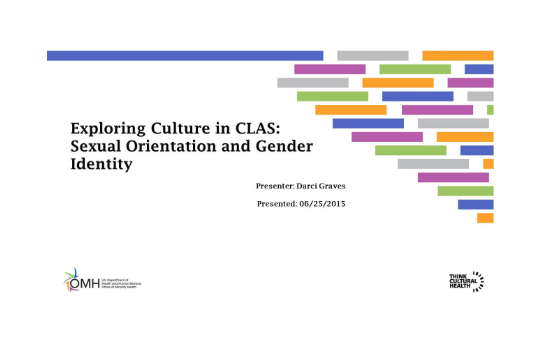 Exploring Culture in CLAS: Sexual Orientation and Gender Identity