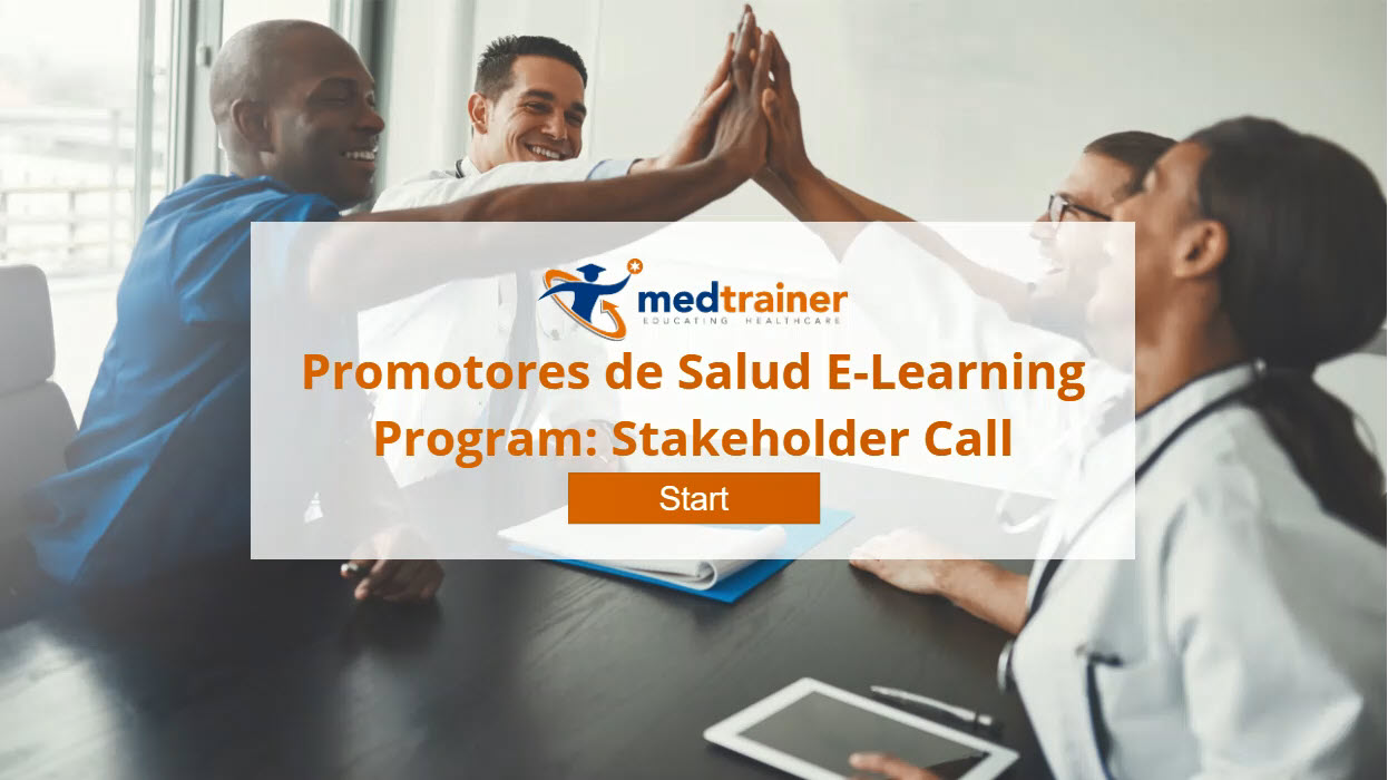 Promotores de Salud E-Learning Program: Stakeholder Call