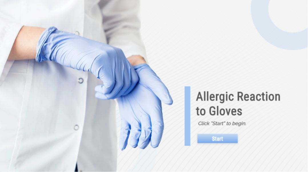 Allergic Reaction to Gloves