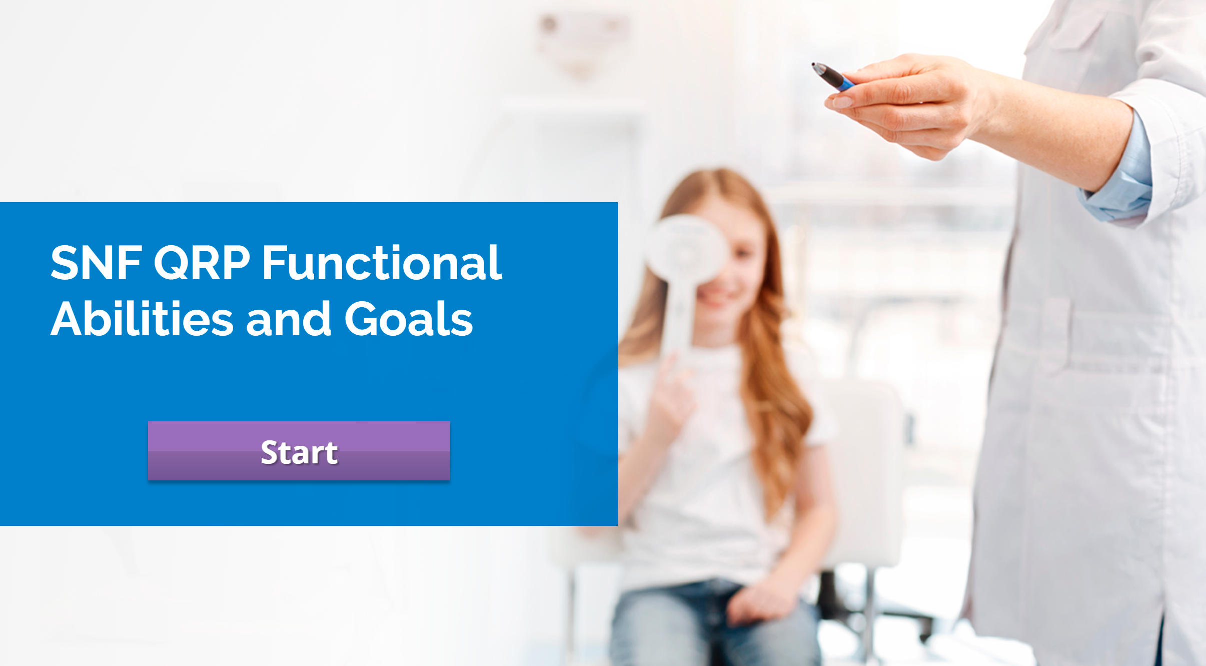 CMS SNF QRP: Section GG: Functional Abilities and Goals