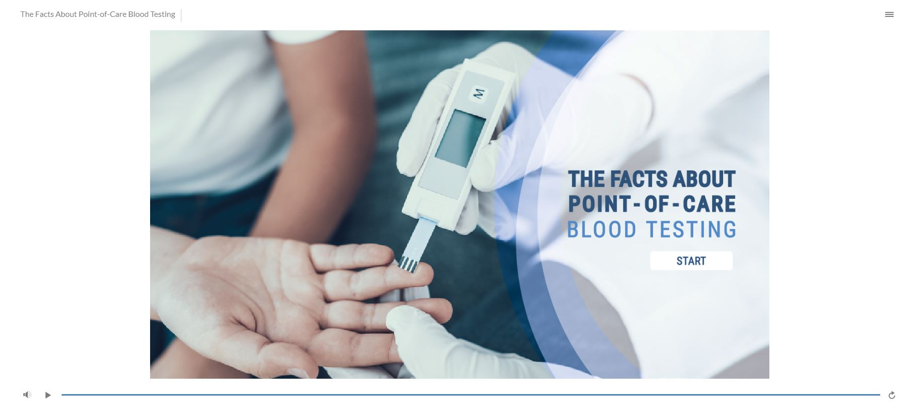 The Facts about Point-of-Care Testing