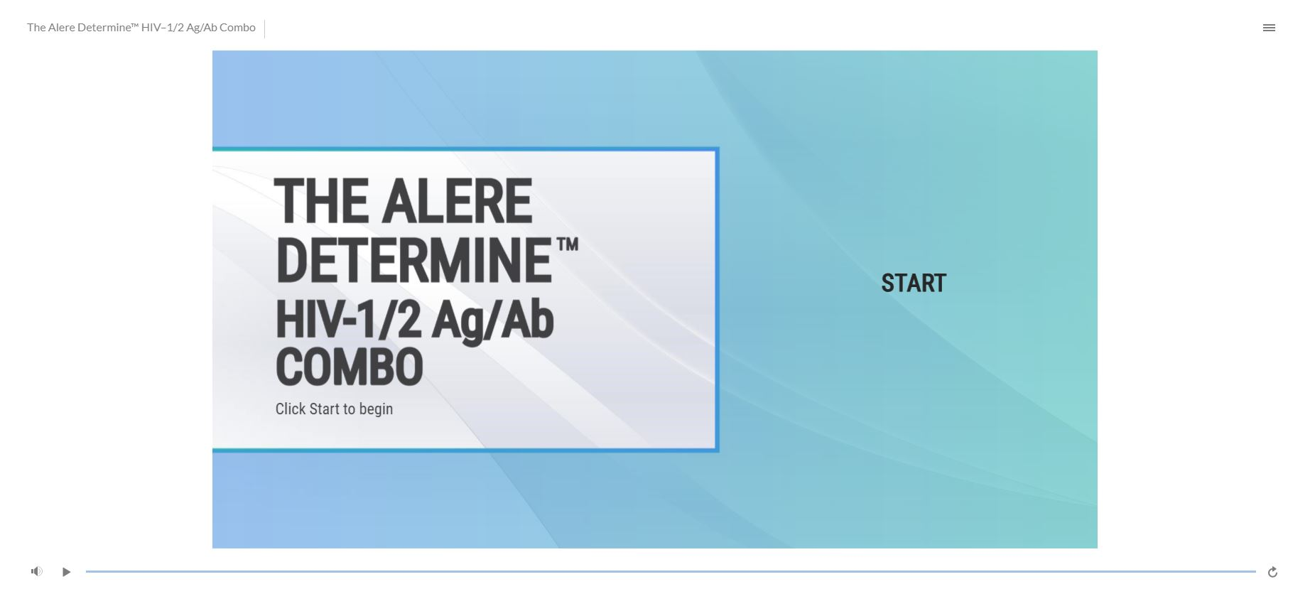 The Alere Determine HIV  ½ Ag/Ab Combo