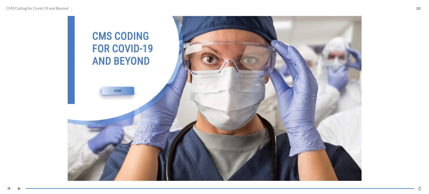 CMS Coding for COVID-19 and Beyond